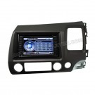 Car DVD GPS Navigation Player with HD Touchscreen and BT iPod Control and PIP RDS for HONDA CIVIC right-handed driving