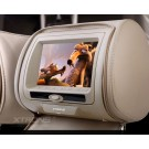 "2x7""Digital Screen Detachable Headrest DVD Players with zipper cover Geige/Grey/Black"