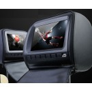 "2x9"" Digital Screen Headrest DVD player with zipper cover Geige/Grey/Black"
