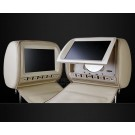 "2x9"" Headrest DVD player with zipper cover Support Wireless Headphones USB/SD/MMC"