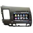 """Honda Civic DVD Player with in-dash GPS Navigation and 8"""" HD Touchscreen"""