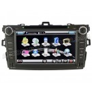 "Car DVD Player with GPS Navigation system 8"" HD Touchscreen for Toyota Corolla - iPod PIP RDS Virtual-CDC"