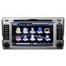 "6.2"" Digital Screen Car DVD player with built-in GPS Navigation / PIP Bluetooth for New Hyundai Santa Fe"