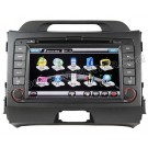 "7"" Touchscreen DVD Player with GPS Navigation / PIP RDS /optional built-in DVB-T for 2010 2011 KIA Sportage"